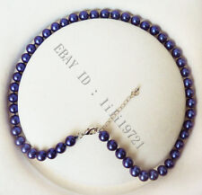 """8mm AAA Blue south sea shell pearl necklace 18"""" LL002"""