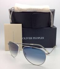 New Photochromic OLIVER PEOPLES Sunglasses BENEDICT OV 1002-S 4130 Silver w/Blue