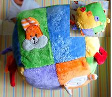 X-Toys ACTIVITY-WÜRFEL Baby Activity Spielzeug Plüsch 14 cm flauschig weich