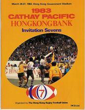 HONG KONG SEVENS 1983 RUGBY PROGRAMME WINNERS AUSTRALIA, TEAMS INC FIJI & JAPAN