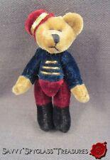 Miniature Velour Jointed Teddy Bear Hotel Bell Hop