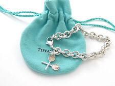Tiffany & Co RARE Silver Tennis Ball Racket Charm Bracelet Bangle!