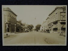 1941 New Lisbon, Wi Main St~ Signs Rexall Drug Old Style Lager Bank Theater Rppc