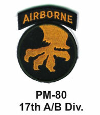 "3""17th A/B DIV.Embroidered Military Patch"