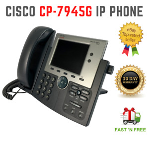Cisco 7900 Series CP-7945G Unified IP Business Phone VoIP Color Display PoE