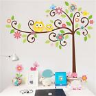 Removable Owls Trees Jungle Art Wall Stickers Wall Decor Kids Room Decal Mural