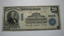 $20 1902 Clifton Forge Virginia VA National Currency Bank Note Bill Ch #6008 VF+