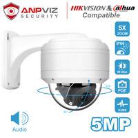Hikvision Compatible Anpviz IP PTZ POE Camera 2MP/5MP 5X Zoom H.265 IP66 Onvif