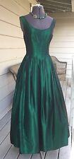 Vintage ABS Allen Schwartz Evening Collection Green Evening Formal Dress Sz 2