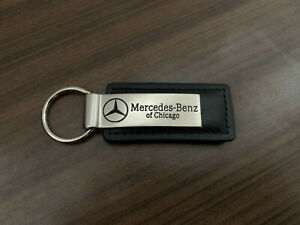 Mercedes Benz of Chicago Logo Leather Key Chain Official
