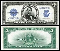 Reproduction 1923  $5 Silver Cert, Lincoln Porthole, Super Hi-Res, AmazingDetail