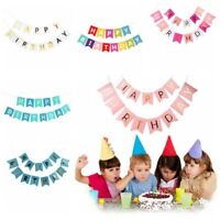 Alphabet Happy Birthday Banner Paper Flag Garland Birthday Party Bunting Decor