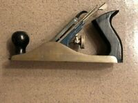"VINTAGE  STANLEY # C557MP 9 3/4"" WOOD PLANE / Blade Plane"
