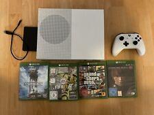 Microsoft Xbox One S 500GB Weiß + Controller + 4 Spiele + 2TB Festplatte