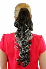 Extension,Hair piece,brown-blonde-Mix,Braid,curly,approx. 50 cm,XF-0053A-8H113