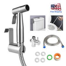 Toilet Bidet Sprayer Handheld Shattaf Bathroom Shower Head T-adapter Hose US