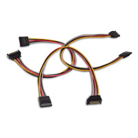 Cable Matters 3 Pack 15 Pin SATA Power Extension 8 Inches Drive Cables Adapters