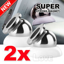 2X Universal Magnetic Ball Magnet Car Holder Mount For GPS iPhone 7 6 Samsung