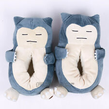 Cute Cartoon Anime Monster Snorlax Plush Slippers Winter Indoor Soft Plush Shoes