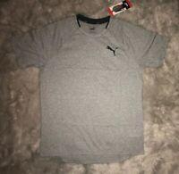 Puma Men's Finisher Tee Short Sleeve Crew Neck T-Shirt Gray Heather Small