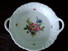 "7 ¾"" Vg German Bavaria AK KAISER HP China Porcelan Handled Fruit Bowl Candy Dish"