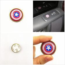 4 Pcs Car SUV 1.10 inch Captain America Button Shape Metal & Epoxy Sticker Badge