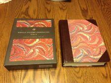 ESV Single Column Journaling Bible Marbled w/Leather SEWN Binding WIDE MARGIN