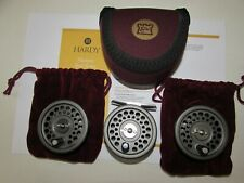 stunning vintage hardy alnwick marquis 2/3 trout fly fishing reel + 2 spools etc