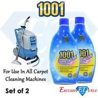 2 x 1001 Carpet Machine Shampoo 500ml Targets Tough Stains Professional Clean