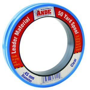 Ande Clear Monofilament Fishing Line Leader 50yd