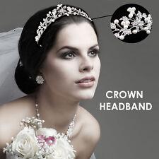 SILVER Nuziale Principessa Cristallo Rhinestone Prom Diadema Corona Cerchietto per capelli