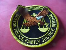 Boston Mass. Police patch Family Justice Division