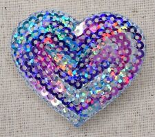 Medium Heart - MULTICOLOR Sequin Love - Iron on Applique/Embroidered Patch