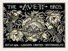Avett Brothers poster Landers Center Southaven, Ms 10/6/16