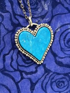 Brighton Twinkle Amor Heart Turquoise Color Necklace +Brighton Pouch Was $72
