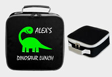 DINOSAUR PERSONALISED LUNCH BAG BOX FUNNY SCHOOL NAME BOYS KIDS CHILDRENS SCHOOL
