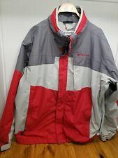 Columbia Mens XL Interchange Winter Jacket 3 in 1 Red Gray