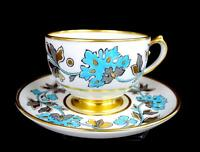 "SPODE COPELANDS CHINA #8144 RICHMOND PATTERN MAPLE LEAF 2 1/8"" CUP & SAUCER 1891"