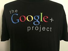 Google T Shirt Mens Large L Black Google+ Project