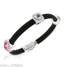 Belle Etoile Diana Black Pink White Bracelet NWT Size M