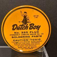 Vintage DUTCH BOY No. 320 Flux Soldering Paste 2 oz Tin NALCO No. 13 NOS