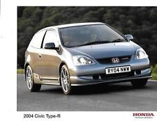 """COPPIA di Honda Civic Type-R Press Photo per 2004 """"SALES BROCHURE"""" correlati"""