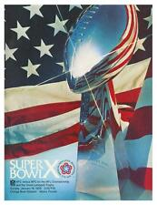 Pittsburgh Steelers vs Dallas Cowboys  *LARGE POSTER*  '76 Super Bowl X FOOTBALL
