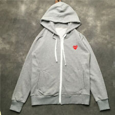 COMME DES GARCONS CDG PLAY RED HEART Hooded Hoodie Unisex Long sleeve Sweatshirt