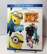 Despicable Me 2 (Blu-ray/DVD, 2013, 2-Disc Set + HD Digital Code)NEW - Free S&H
