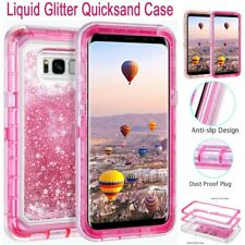 For Samsung Galaxy S8/S9/S10 Plus Glitter Bling Liquid Quicksand Hard Case Cover