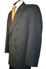 $1995 Norton & Townsend Dark Chocolate Cream Stripe Suit size 45R C093