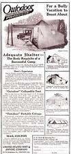 Vintage ad 1923 Outdoor Auto Tent Camping Cool ad Cabin art