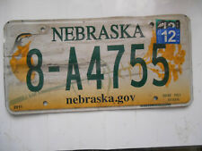 plaque immatriculation  usa nebraska license plate old americaine 4755