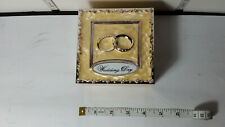 Wedding Day - Wedding Ring Box, Felt Lined, Metal Enamel